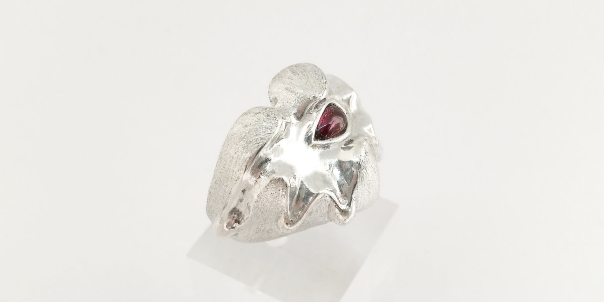 Love melted heart ring